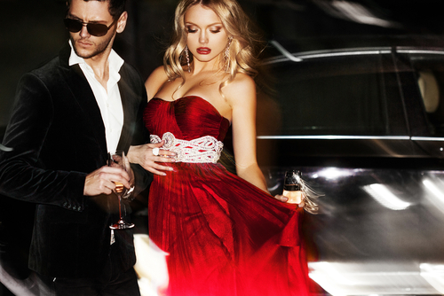 Love and Friends Part time ambassadors wanted glamorous man and woman standing side by side